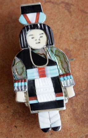 Zuni Maiden Pin/Pendant by M Beyuka