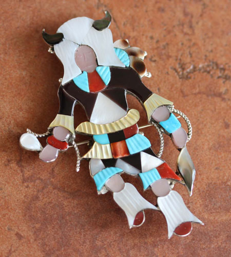 Zuni Kachina Pin/Pendant by Jon Beyuka
