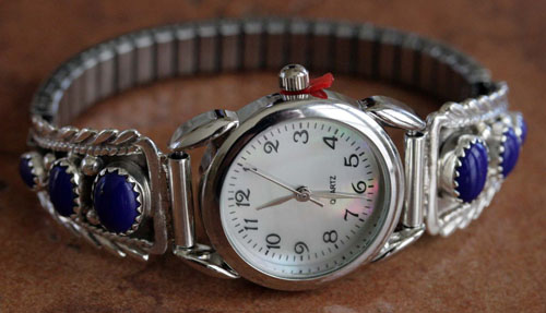 Navajo Indian Lapis Women's Watch