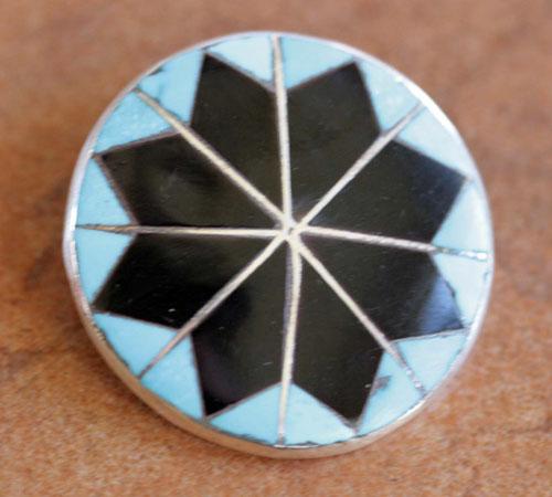 Zuni Multi_Stone Pin/Pendant by DC Zuni