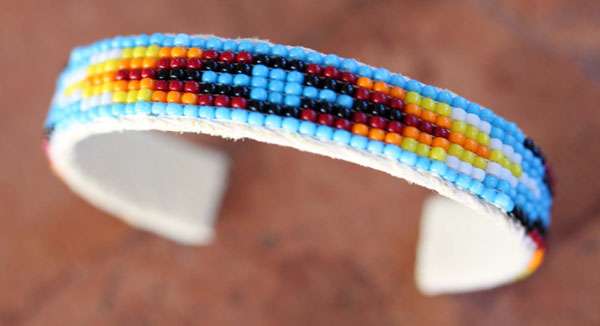 Navajo Leather Beaded Bracelet