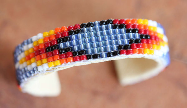 Navajo Leather Beaded Children's Bracelet