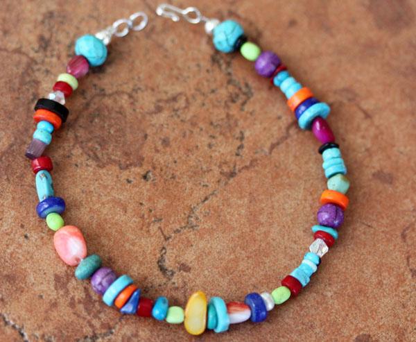 Navajo Silver Beaded Nugget Bracelet