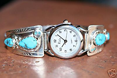 Zuni Indian Turquoise Women's Watch by Effie C.
