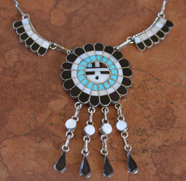 Zuni Sunface Necklace J Massie