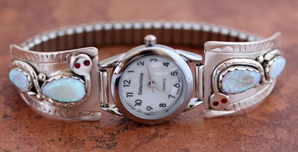 Zuni Created Opal Women's Watch by Effie Calavaza