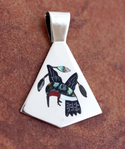 Zuni Native American Bird Pendant by SC Edaakie