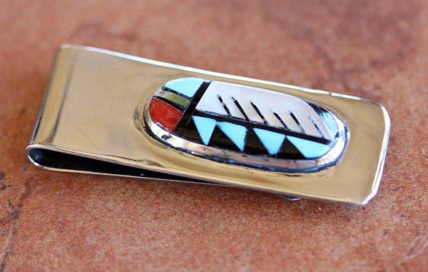 Zuni Native American Multi_Stone Money Clip