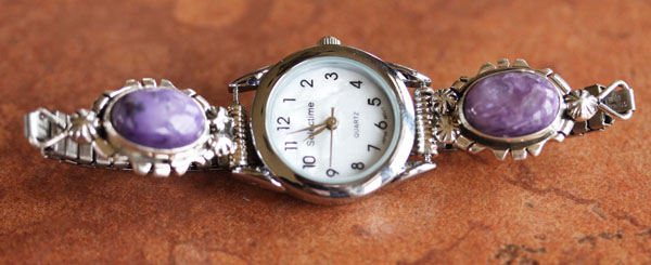 Navajo Charoite Ladies Watch
