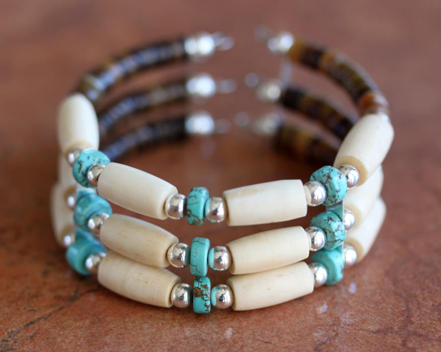 Navajo Native American Beaded Bracelet