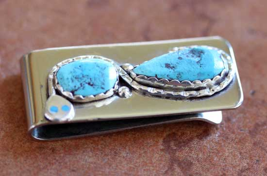 Zuni Turquoise Money Clip by Effie