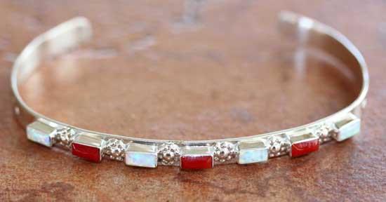 Zuni Sterling Multi_Stone Bracelet