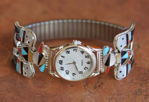 Zuni Native American Thunderbird Men's Watch