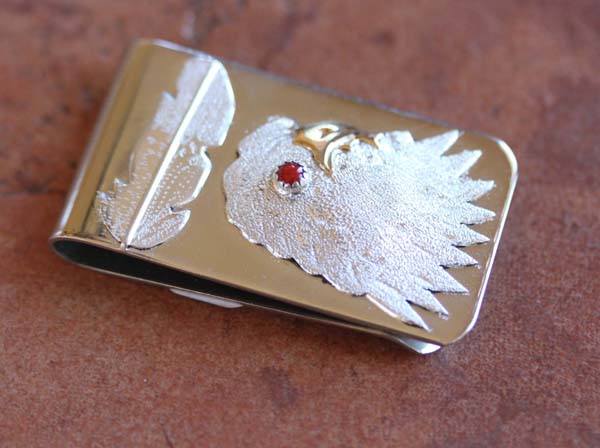 Navajo Silver Eagle Money Clip by Betty Thomas