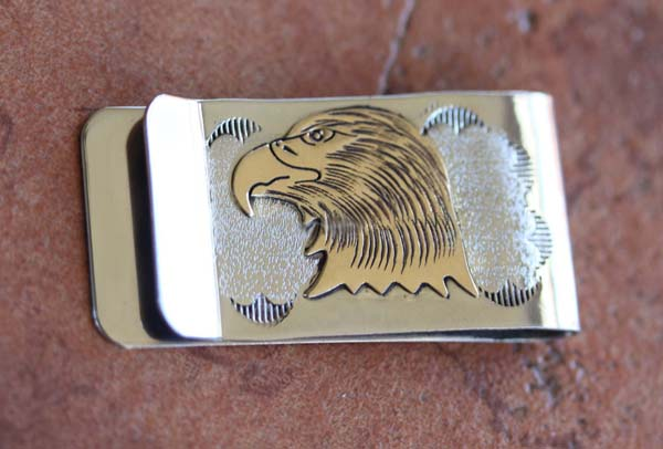 Native American Silver Gold Money Clip by V Reader