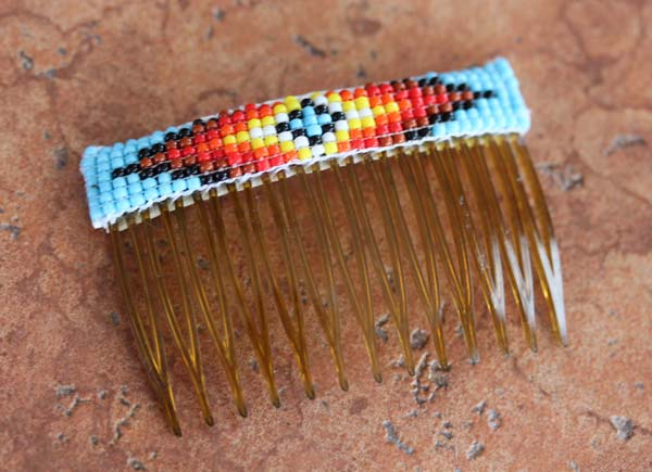 Navajo Beaded Hair Barrette