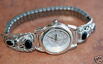 Navajo Onyx Women's Watch by Robert Brown