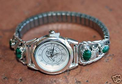 Navajo Malachite Women's Watch by Robert Brown