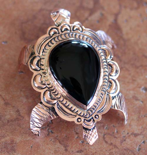 Navajo Copper Onyx Turtle