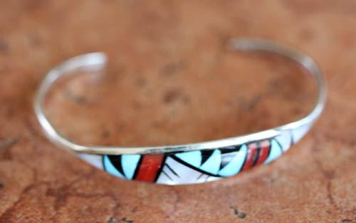 Zuni Native American Multi_Stone Bracelet